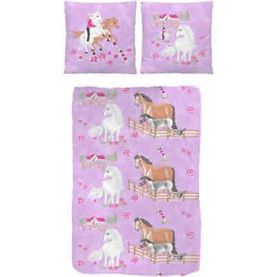 pferdebettw sche kinderbettw sche pferde renforc rosa. Black Bedroom Furniture Sets. Home Design Ideas