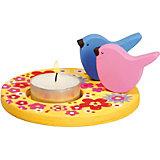 Teelichthalter Holz Vögelchen zum Selbstgestalten, 2 Stück