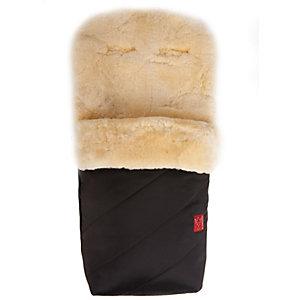 Fußsack PAAT mit Lammfell, schwarz
