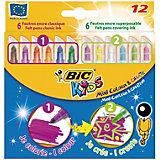 BIC Цветные фломастеры Мини Рисуй и Твори, 6+6 цветов