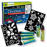 Home Design Kreativset Window Color im Pen Style Christmas, 6 Farben & Schablonen