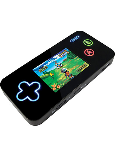 Spielekonsole mit 100 Spielen und integriertem Akku, schwarz
