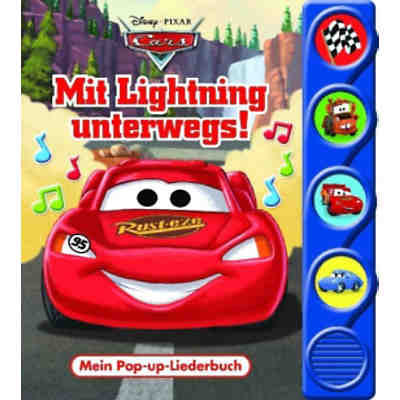 Mein Pop-up-Liederbuch: Cars - Mit Lightning unterwegs!, m. Tonmodulen