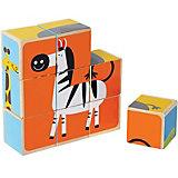 Würfel Puzzle Zootiere