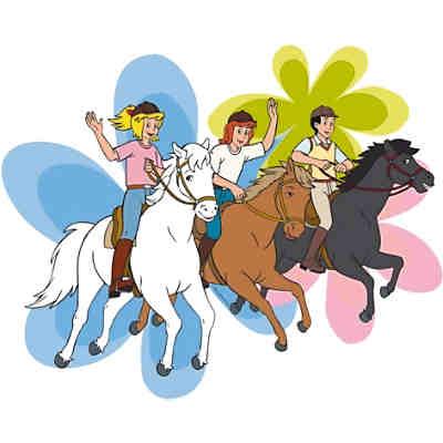 wandtattoo bibi und tina, pferde, 14-tlg., bibi und tina | mytoys