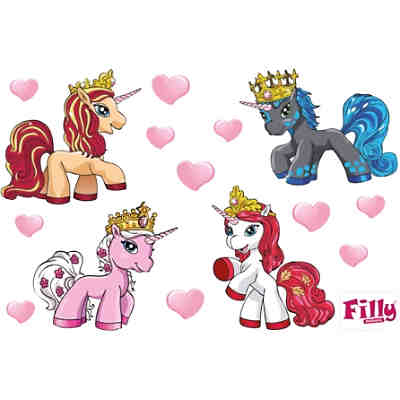 Wandsticker XL Filly, Romance Set, 15-tlg.