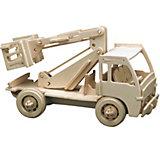 Holzbausätze Baufahrzeuge, 3 Sets