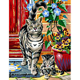 KSG Malen nach Zahlen Masterpiece Twinpack Katzen
