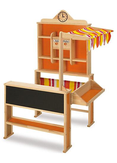 Kaufladen Mit Markise Holz Von Eichhorn ~ Kaufladen mit Markise, Holz, Eichhorn myToys