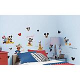 Wandsticker Disney Mickey Mouse & Friends, 30-tlg.