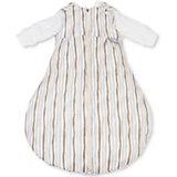 Schlafsack BabySafe Trolley, 3-teilig, Welle braun/grau