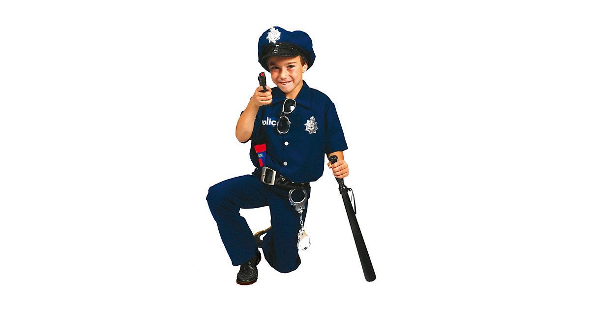 Kostüm Polizist David, 2-teilig, mit Mütze und Gürtel Gr. 140 Jungen Kinder
