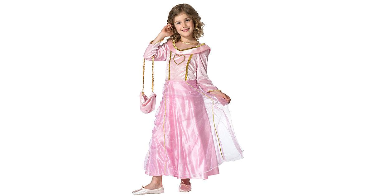 Kostüm Prinzessin Bella Rosa, mit Handtasche Gr. 128 Mädchen Kinder