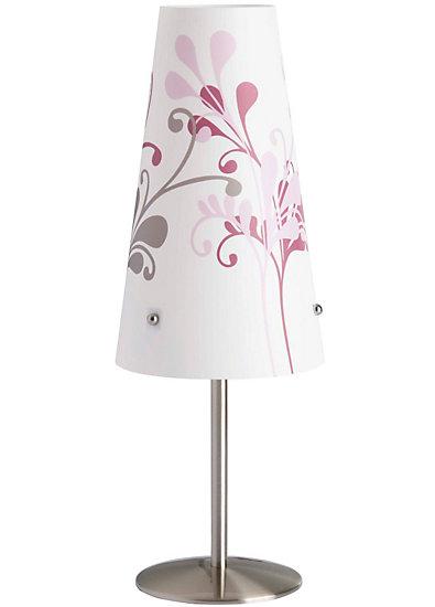 nachttischlampe isi wei mit blumen mytoys. Black Bedroom Furniture Sets. Home Design Ideas