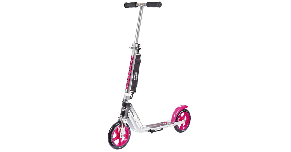 Scooter Big Wheel 205 mm, pink/schwarz
