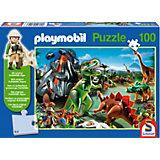 Im Dinoland, 100 Teile, Kinderpuzzle Playmobil mit Figur