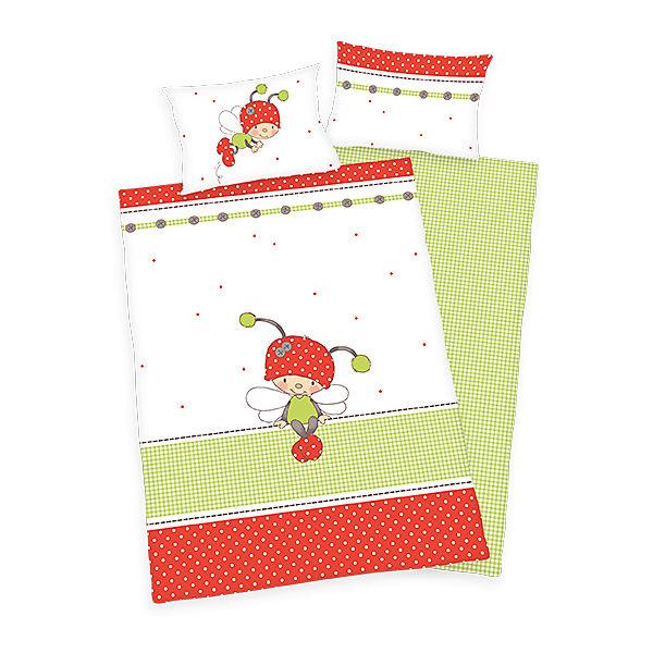 wende kinderbettw sche lara k ferchen linon 100 x 135 cm herding mytoys. Black Bedroom Furniture Sets. Home Design Ideas
