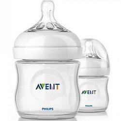 Бутылочки для кормления Natural, 125 мл, медленный поток, 2 шт., AVENT