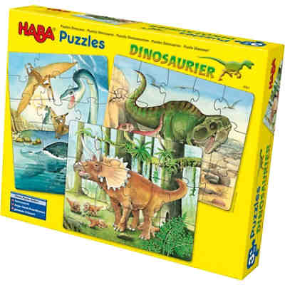 3 in 1 Puzzle-Set Dinosaurier