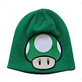 Beanie Mütze 1-Up Pilz (Wendemotiv) [grün]