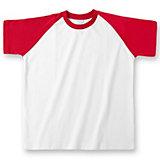 110/116 Kurzarmshirt rot, aus Baumwolle