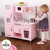 Детская кухня винтажная, розовая