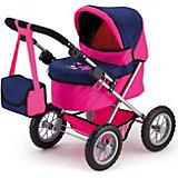 Trendy Puppenwagen Pink/Blau