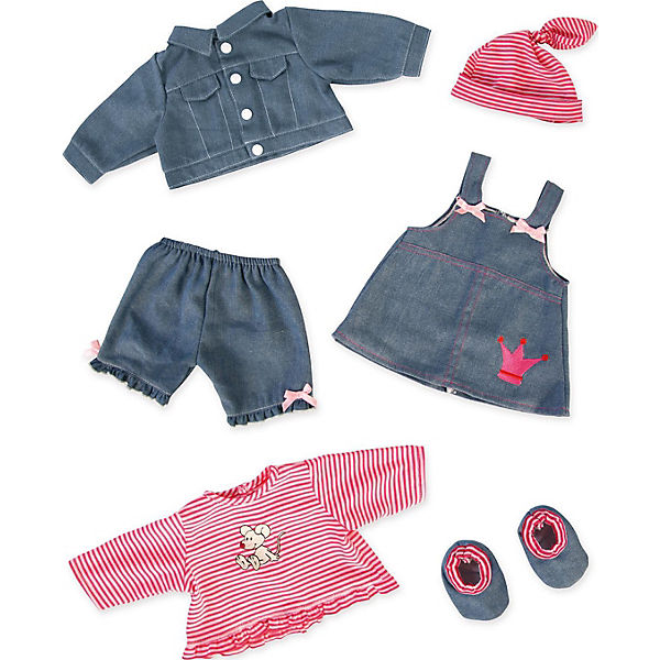 Puppenkleidung Jeans-Set, 42-46cm