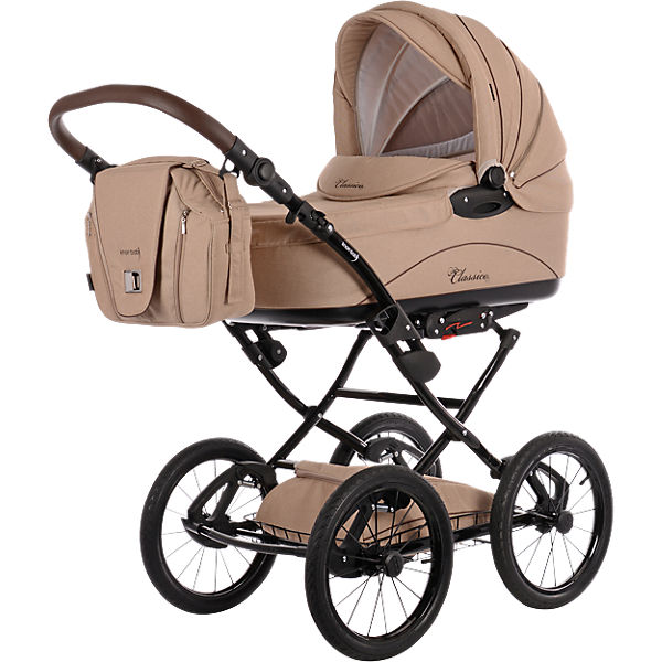 kombi kinderwagen classico mit wickeltasche handw rmer creme knorr baby mytoys. Black Bedroom Furniture Sets. Home Design Ideas