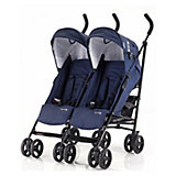Zwillingsbuggy Side by Side, navy blue