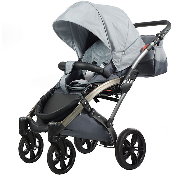 kombi kinderwagen voletto sport mit wickeltasche grau knorr baby mytoys. Black Bedroom Furniture Sets. Home Design Ideas