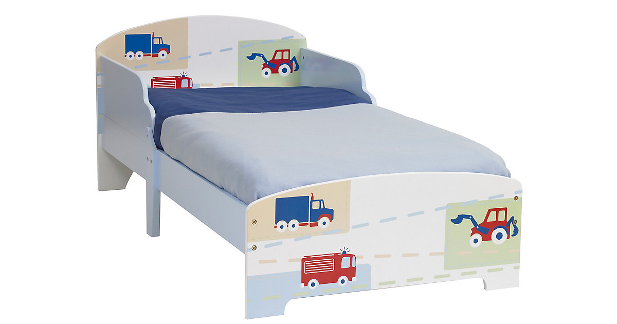 Kinderbett Auto, 70 x 140 cm mehrfarbig
