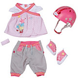 BABY born Puppenkleidung Safety Set mit Helm, 43 cm