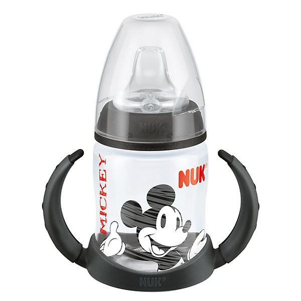 Trinklernflasche FIRST CHOICE, PP, 150 ml, Silikon-Trinktülle, Mickey Mouse, schwarz