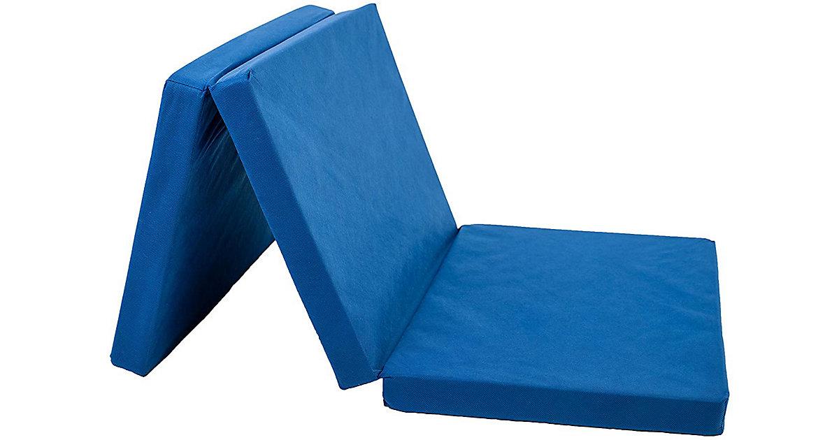 Reisebettmatratze mit Tasche, marine blau