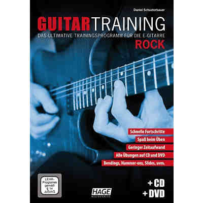 Guitar Training Rock, mit Audio-CD u. DVD