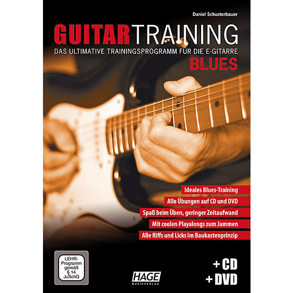 Guitar Training Blues, mit Audio-CD u. DVD