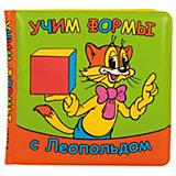 """Книга-пищалка для ванной """"Учим формы с Леопольдом"""""""