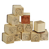 Mini-Holzstempel Lustige Tierwelt, 12 Stück