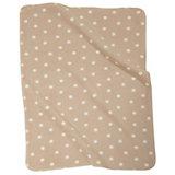Babydecke mit UV-Schutz, beige gepunktet, 75 x 100 cm