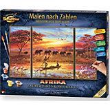 Malen nach Zahlen - Afrika-Zauber eines Kontinents (Triptychon)