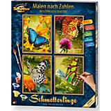 Malen nach Zahlen - Schmetterlinge (Quattro)