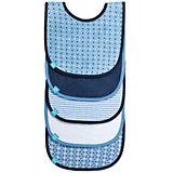 Lätzchen Pattern Boys, mit Klettverschluss, 5er Set, hellblau/blau