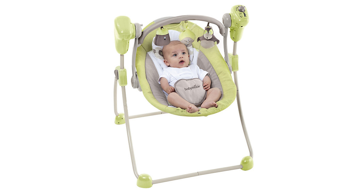 Babyschaukel Bubble, braun/mandelgrün
