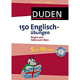Duden 150 Englischübungen, 5. bis 10. Klasse, mit Audio-CD