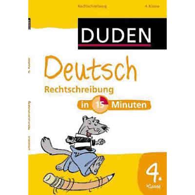 duden deutsch in 15 minuten rechtschreibung 4 klasse