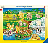 Puzzle Zoobesuch 14 Teile