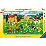Пазл «Животные на лугу», 15 деталей, Ravensburger