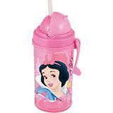 Disney Princess Фляга с соломинкой и держателем (350 мл). Принцессы