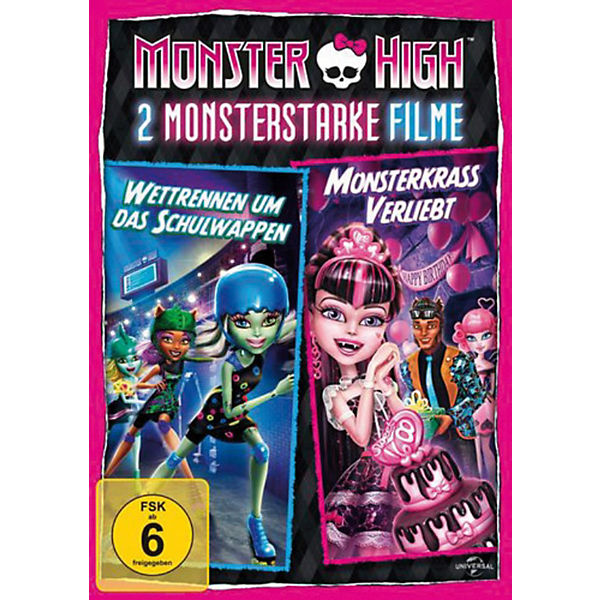 DVD Monster High - 2 Monsterstarke Filme Vol. 1 (Wettrennen um das Schulwappen & Monsterkrass verliebt)